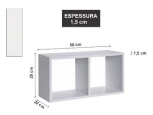 Nicho Duplo 56x28x20cm Branco