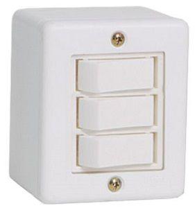 Interruptor X Branco 3 Teclas