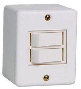 Interruptor X Branco 2 Teclas