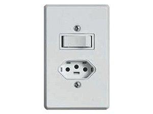 Interruptor 1 tecla+ Tomada 10A Pratika BR