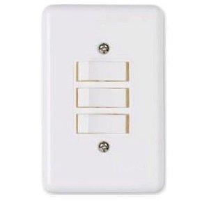 Interruptor Branco 3 Teclas
