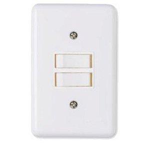 Interruptor Branco 2 Teclas Paralelas