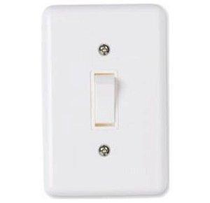 Interruptor Branco 1 Tecla Paralela