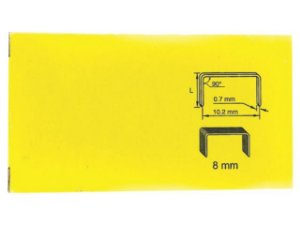 Grampo p/ Grampeador 8mm Cx c/ 1000 un.