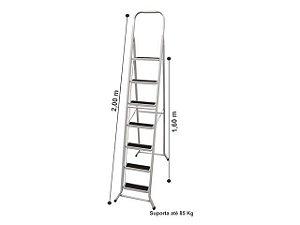 Escada Aço 7 Degraus