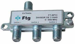Divisor Antena c/ 3 Saídas c/ 10 pçs