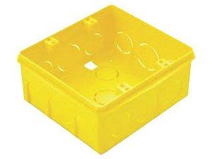 Caixa Luz 4x4 FF PVC Amarela Mondiale