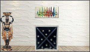Adega p/ 12 Garrafas 36x31,5x36 cm