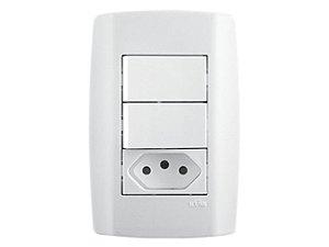 Interruptor 2 Teclas + Tomada 10A