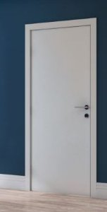 Kit Porta 90 cm Branco - Marco entre 16 e 19 cm