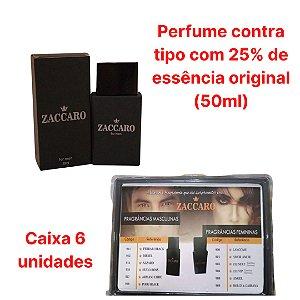 Caixa com 6 unidades - Perfume contratipo Zaccaro
