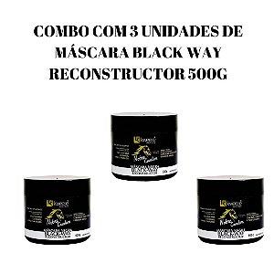 Combo com 3 Máscaras Black Way Reconstructor 500g