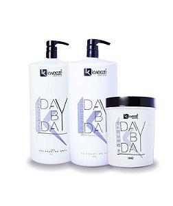 Kit Shampoo, Condicionador E Máscara Day By Day Kadma Kweeze