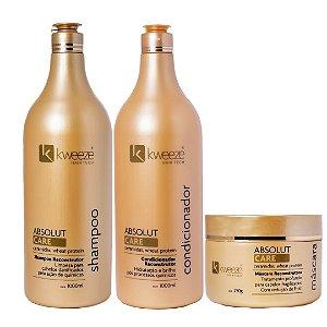 Kit Absolut Care (shampoo e condicionador 1 litro + máscara 250gr)