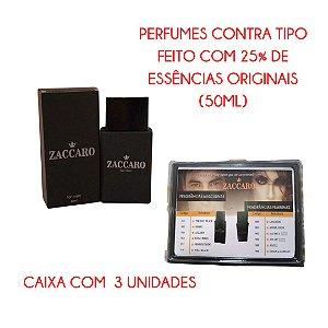 Caixa com 3 unidades - Perfume contratipo Zaccaro