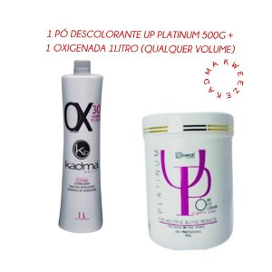 Combo 1 Pó Descolorante UP Platinum 500g + 1 Ox