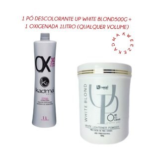 Combo 1 Pó Descolorante UP White Blond 500g + 1 Ox