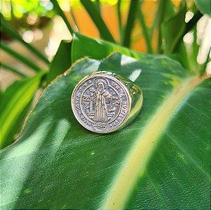 Anel Medalha de São Bento em Prata 925