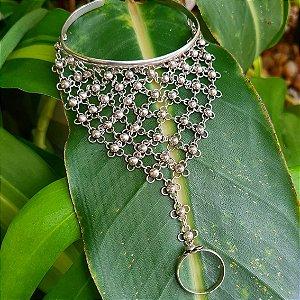 Luva de Prata Flores em Prata 925