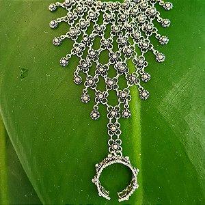 Luva de Prata Pikun com Penduricalhos em Prata 925