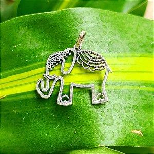 Pingente Elefante em Prata 925