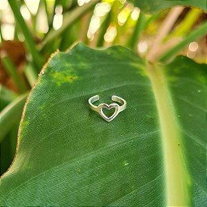 Piercing Falso Coração em Prata 925
