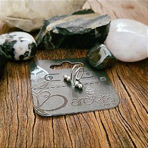 Piercing Falso Bolinhas em Prata 925