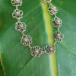 Pulseira Bali Flores em Prata 925