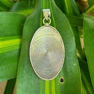 Pingente Bali Oval em Prata 925