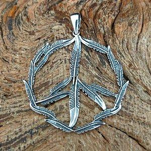 Pingente Símbolo da Paz em Prata 925