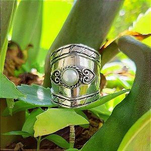 Anel em Prata 925 e Pérola de Cultivo