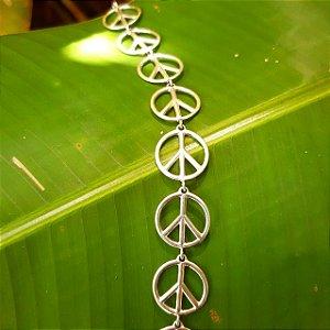 Pulseira Símbolo da Paz em Prata 925