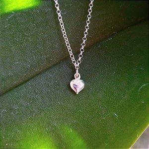 Tornozeleira Coração em Prata 925