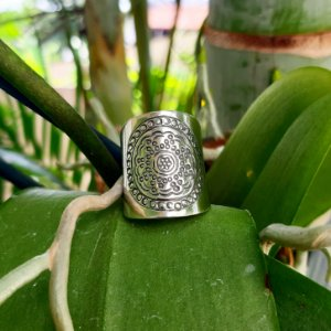 Anel Bali Mandala em Prata 925