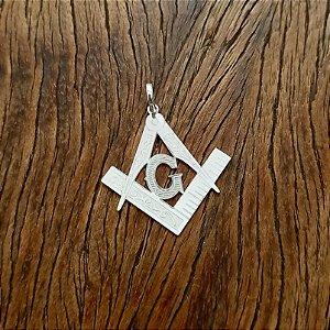 Pingente Símbolo Maçônico em Prata 925