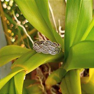 Anel Bali Trançado em Prata 925