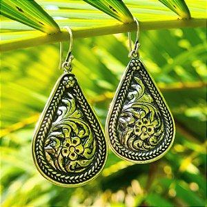 Brinco Bali Grande em Prata 925