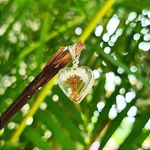 Pingente Orgonite Árvore da Vida em Prata 925 e Resina