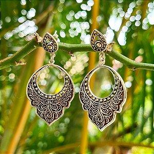 Brinco Bali Médio em Prata 925