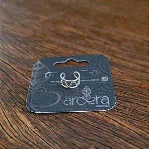 Piercing Falso Vazado em Prata 925
