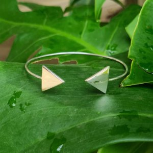 Bracelete Triângulos em Prata 925