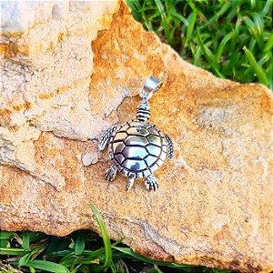 Pingente Tartaruga Articulada em Prata 925