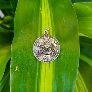Pingente Mandala com Patuá em Prata 925