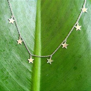 Choker Estrelas em Prata 925