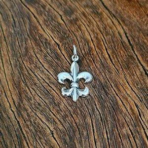 Pingente Flor de Lis em Prata 925
