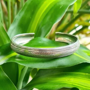 Bracelete Bali Trabalhado em Prata 925