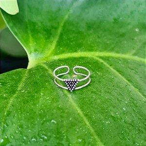 Anel de Falange Triângulo em Prata 925