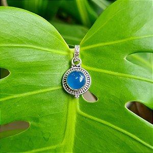 Pingente em Prata 925 e Calcedônia Azul