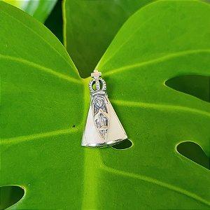 Pingente Nossa Senhora em Prata 925 e Madrepérola