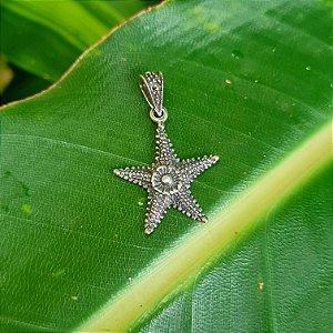 Pingente Estrela do Mar em Prata 925 e Marcassita